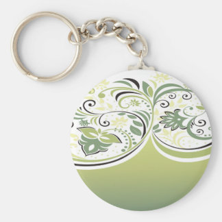 Green and Floral Keychain