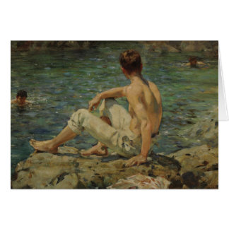 Green and Gold by Henry Scott Tuke Card