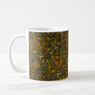 Green and Gold Coffee Mug