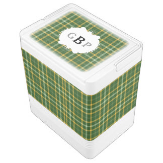 Green and Gold Green Bay Tartan Monogram