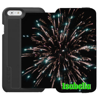 Green and Gold Independence Day Firework Incipio Watson™ iPhone 6 Wallet Case