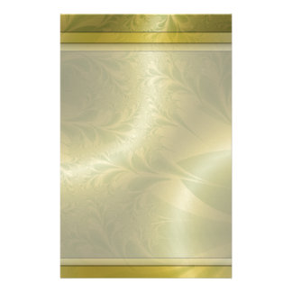 """Green and Gold Paisley 5.5"""" x 8.5"""" Stationery Design"""