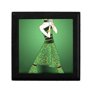 Green and Gold Princess Gift Box