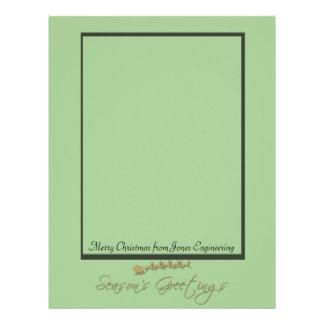 Green and Gold Santa Sleigh Letterhead Template