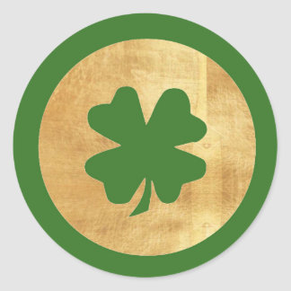 Green and Gold Shamrock Stickers
