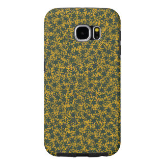 Green and Gold Star Team Spirit Sports Colors Samsung Galaxy S6 Cases