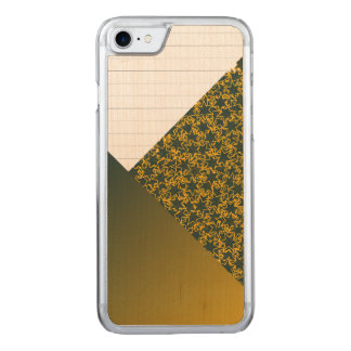 Green and Gold Star Team Spirit Sports Colours Carved iPhone 7 Case