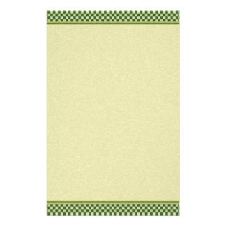 Green and Gold Stationery