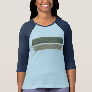 Green And Gold  Stripes T-Shirt