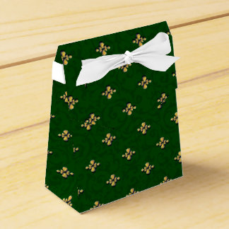 Green and Gold Tent Favor Box