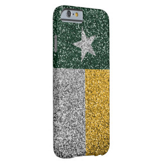 Green and gold Texas flag glitter look case