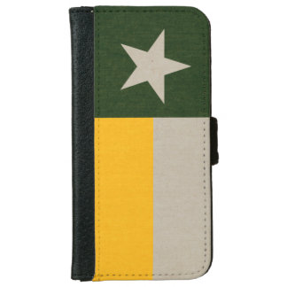Green and Gold Texas Flag iPhone 6 Wallet Case