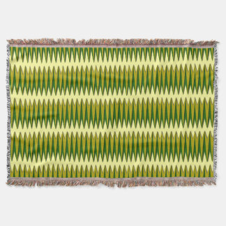 Green and Gold Zigzag Comfy Throw