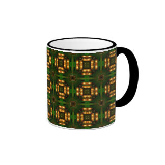 Green and golden motives coffee mugs