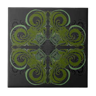 Green and Graphite Retro Tiles