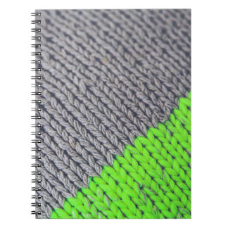 Green and Gray Geometric Sweater Notebook