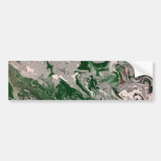 Green and Gray Marble Bumper Sticker