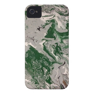 Green and Gray Marble iPhone 4 Cases