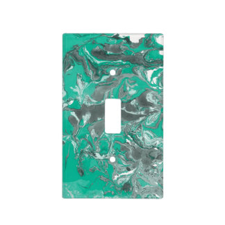 Green and gray Marble. Light Switch Cover