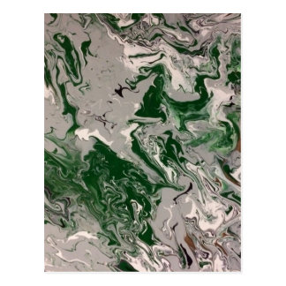 Green and Gray Marble Postcard