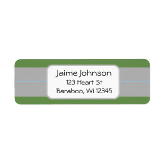 Green and gray  Return Address Sticker