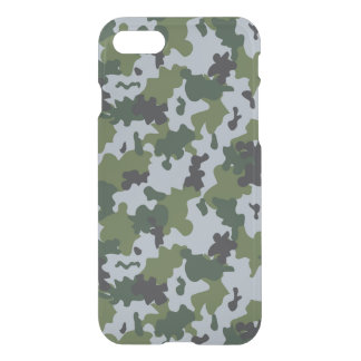 Green and Light Blue Camouflage iPhone 7 Case