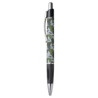 Green and Light Blue Camouflage Pen