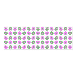 Green and magenta flowers card business cards