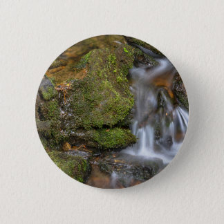 Green and Mossy Water Flow 2 Inch Round Button