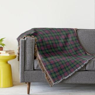 Green and Navy Blue Clan Logan Scottish Plaid Throw Blanket