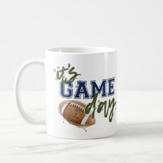 Green and Navy Game Day Mug