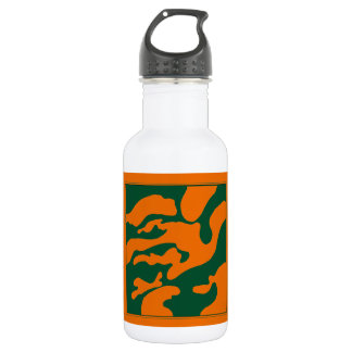 Green and Orange Camouflage Florida Water Bottle