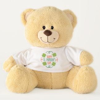 Green and Orange Happy Saint Pats Day Teddy Bear