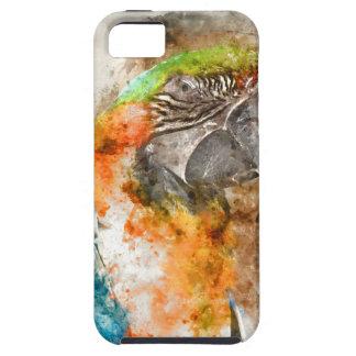 Green and Orange Macaw Bird iPhone 5 Covers