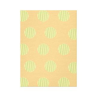 Green and Orange Polka Dot Pattern Wall Art