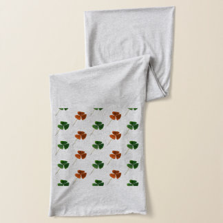 Green and Orange Shamrock Pattern Scarf