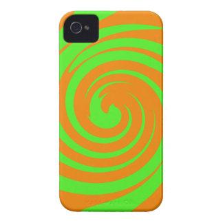 Green and orange swirl Case-Mate iPhone 4 case