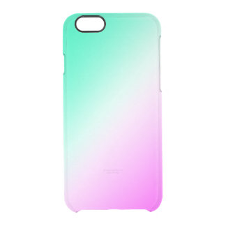 Green and pink ice clear blend clear iPhone 6/6S case