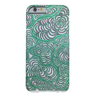 Green and Pink Spiral Amoeba Phone Case