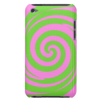 Green and pink swirl, ipod touch case