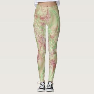 Green and Pink Swirl Legging