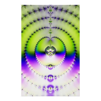 Green and Purple Circles of Fractals Poster