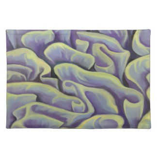 Green and Purple Coral Placemat