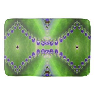 Green and Purple Design Bath Mat