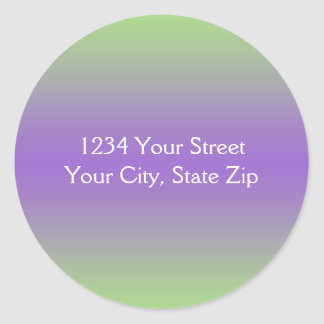 Green and Purple Envelope Seal with Address