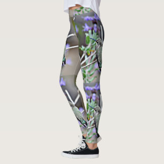 Green and Purple Hummer Women's Leggings