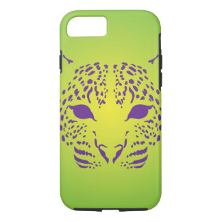 Green and Purple Leopard Face iPhone 8/7 Case