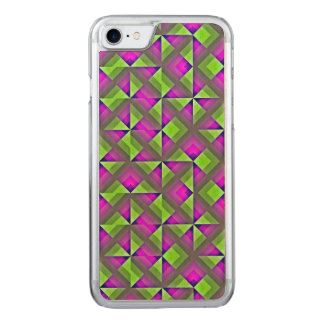 Green and Purple Mosaic Carved iPhone 8/7 Case