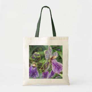 Green and Purple Orchid Tote