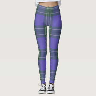Green and Purple Plaid leggings